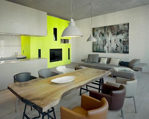 Wohnzimmer mit gelber Wandfarbe - Ideen, Design, Bilder & Beispiele