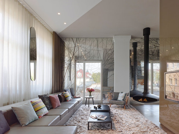 Contemporary Living Room by Ippolito Fleitz Group – Identity Architects