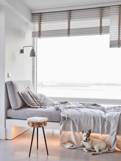 Modern Wohnbereich Loftwohnung Blankenese
