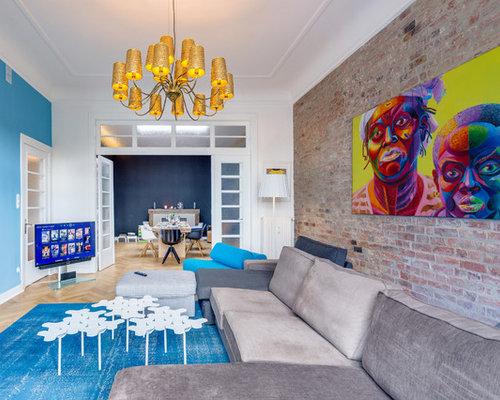 Große Moderne Wohnzimmer - Ideen, Design, Bilder & Beispiele