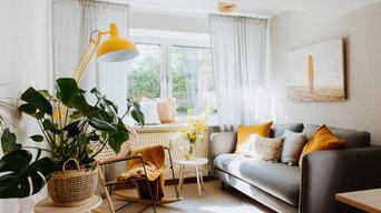 Lounge mit Wohlfühl Atmosphäre im Boho Stil