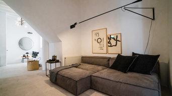 Lounge Sofa in offenem Wohnraum