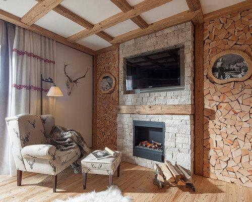 rustikale wohnzimmer ideen design houzz. Black Bedroom Furniture Sets. Home Design Ideas