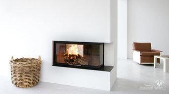 Moderner Heizkamin für den Wohnraum