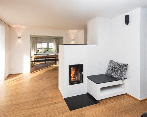 moderner kachelofen als raumteiler wohn design. Black Bedroom Furniture Sets. Home Design Ideas