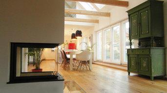 moderner Wohnbereich im alten Bauernhaus