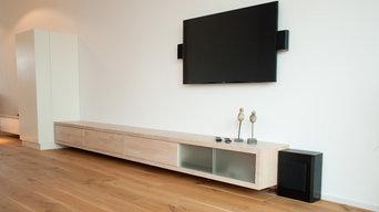 Möbelkozept durch zwei Räume