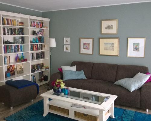 landhausstil wohnzimmer mit vinyl boden ideen design houzz. Black Bedroom Furniture Sets. Home Design Ideas