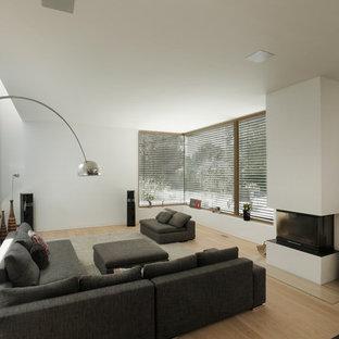 Soggiorno con parquet chiaro Francoforte - Foto e Idee per ...