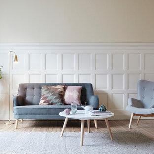 Skandinavische Wohnzimmer Mit Beiger Wandfarbe Ideen Design