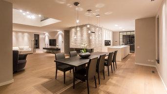 Offene Küche in modernem Einfamilienhaus