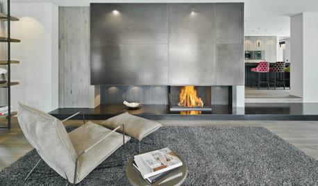 Heißes Eisen: Ein Stahl-Kamin für ein Holzhaus