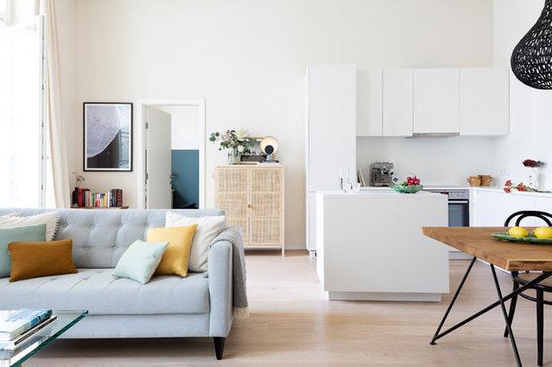Modern Wohnbereich by Kathy Kunz Interiors