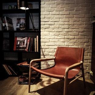 OX Denmarq Rama Chair Sessel mit Armlehnen und Holzbeinen, Leder