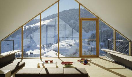 Houzz Швейцария: Дом в Альпах с пандусами вместо лестниц