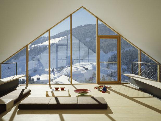Современный Семейная комната by Drexler Guinand Jauslin Architekten GmbH