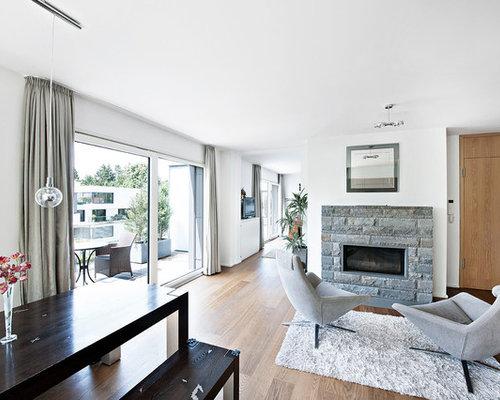 Wohnzimmer Steinwand - Ideen & Bilder   HOUZZ
