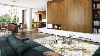 Penthouse in München - Wohnraum