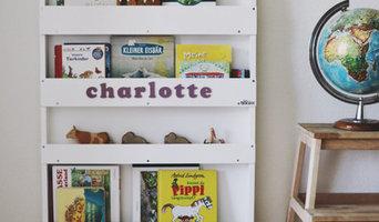Personalisiertes Bücherregal Weiß