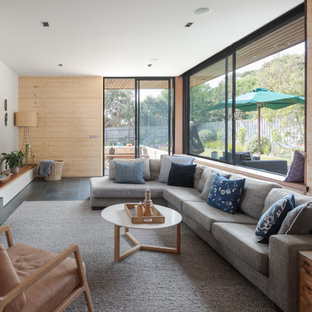 Beach style family room in Geelong.
