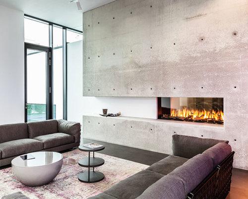 Moderne wohnzimmer mit linoleum ideen design bilder houzz - Wohnzimmer dortmund ...