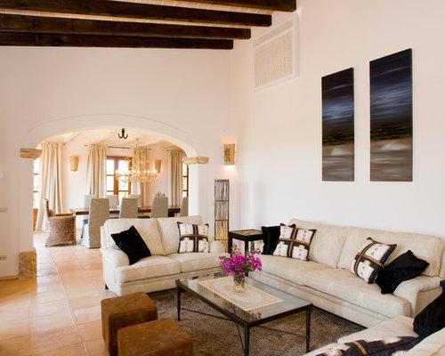 Mediterrane Wohnzimmer - Ideen, Design, Bilder & Beispiele