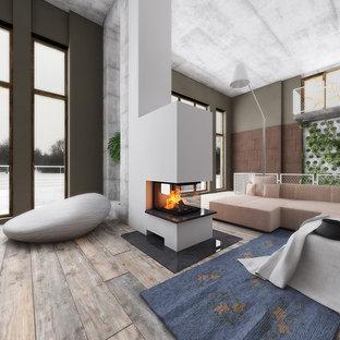 Raumteiler 3seitig mit Holzregal