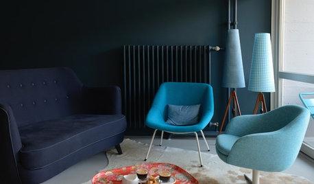 Houzz Германия: Ностальгическая «нимейеровская» квартира в Берлине