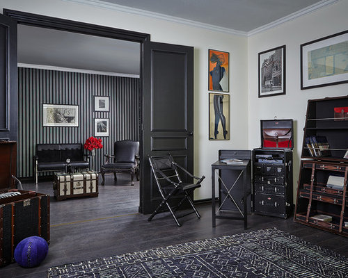 eklektische wohnzimmer mit gelber wandfarbe ideen. Black Bedroom Furniture Sets. Home Design Ideas