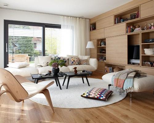 Wohnzimmer Mit Verstecktem Tv Design Ideen Bilder Beispiele