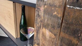 Sideboard mit Weinfassdauben
