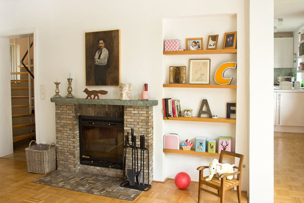 """Eclectic Living Room by Lisa Nieschlag """"Liz & Jewels"""""""