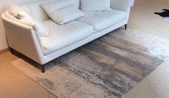 Teppich im skandinavischen Design