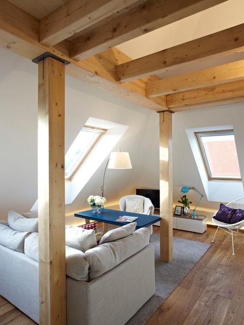 Holzbalken Wohnzimmer Modern ~ Dekoration, Inspiration Innenraum ... Holzbalken Wohnzimmer Modern