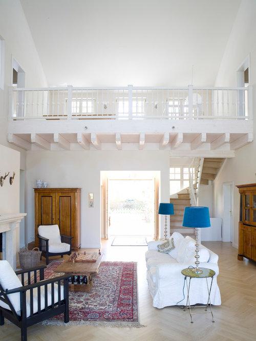 offene landhausstil wohnzimmer - ideen, design, bilder & beispiele, Wohnzimmer
