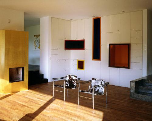 Modernes Wohnzimmer Mit Kamin Msglocal Info