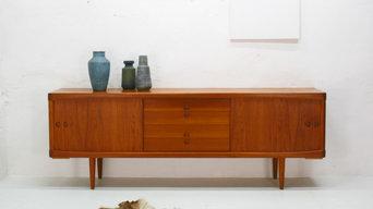 Vintage Teak-Sideboard von Bramin, Design H.W. Klein