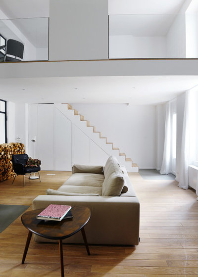 Scandinavian Living Room by Studio Swen Burgheim