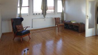 Vorher: Das Wohnzimmer nach Auszug