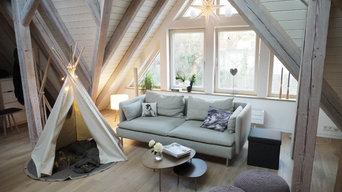 Vorher - Nachher: Dachgeschossausbau im nordischen Style