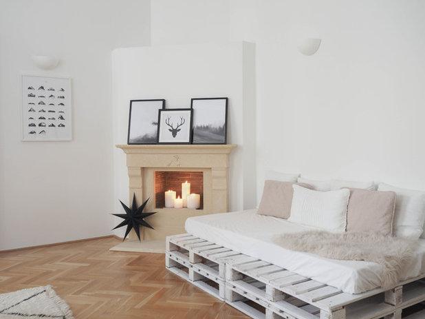 Skandinavisch Wohnbereich by traumzuhause