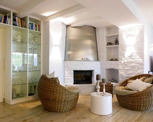 Wohnzimmer mit eckkamin und kalkstein ideen design - Wohnzimmer dortmund ...