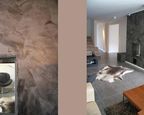 Salle de séjour mansardée ou avec mezzanine moderne Allemagne ...