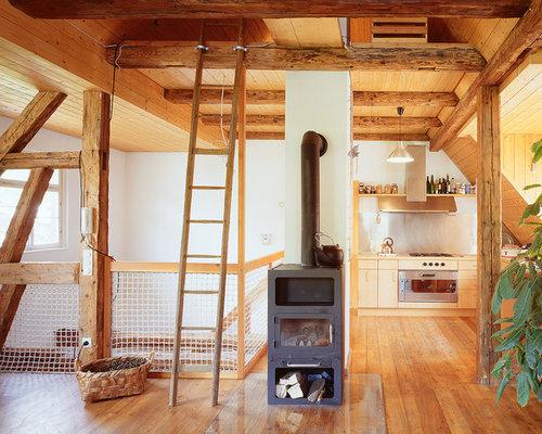 rustikale wohnzimmer - ideen, design, bilder & beispiele, Wohnzimmer dekoo