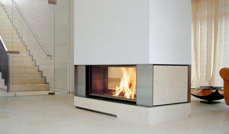 Feurige Raumtrenner: 10 Kamine mit Flammen-Panorama