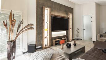 Wohnraum - Gestaltung Keramik/Holz/LED