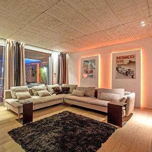 Modelo de sala de estar actual de tamaño medio