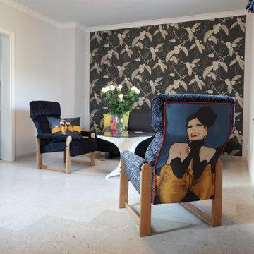 Wohnzimmer in Designferienwohnung