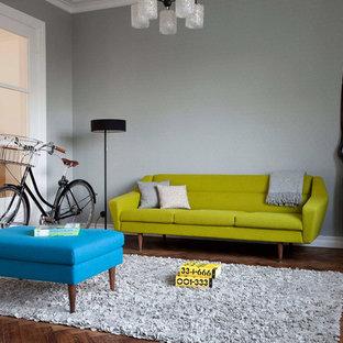 Wohnzimmer in grau skandinavisch