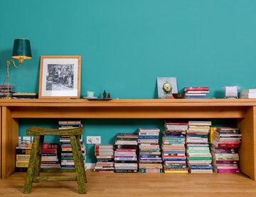 Wohnzimmer in Kreidefarbe Esmeralda 050